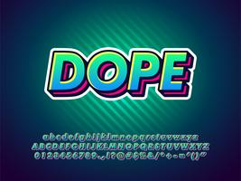 Eenvoudig lettertype voor jongeren, straat en stedelijke kunst vector