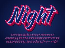 Sterk en scherp lettertype Donker alfabet