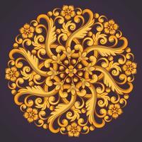 Mooi rond sierelement voor ontwerp in geeloranje kleuren.