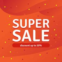 Super Sale-korting tot 20%, Vector