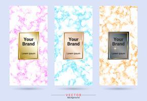 Productontwerpetiket en stickersjablonen van verpakking.