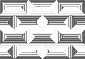 Monochrome doodle art deco abstracte naadloze achtergrond met lijn van de lijn. vector