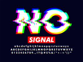 Vervormd Glitch-lettertype-effect met RGB-kleur