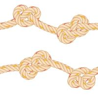 Naadloos patroon met touw buigen. vector