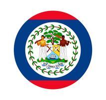 Ronde vlag van Belize. vector