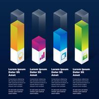 3D Infographic elementen vector