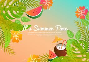 Vector zomer tropische achtergrond