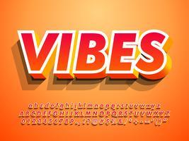 3D-moderne alfabet met warme Vibes vector