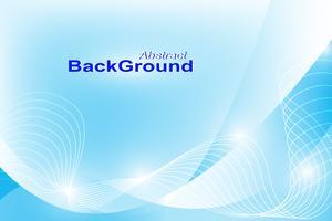 Blauwe abstracte achtergrond (buig lijn en schijn met licht) vector
