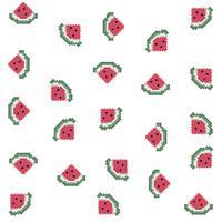 pixel watermeloen patroon
