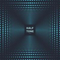 Abstracte blauwe het perspectief donkere achtergrond en textuur van de kleuren halftone ruimte.