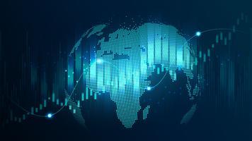 futuristisch concept van een wereldwijd netwerk