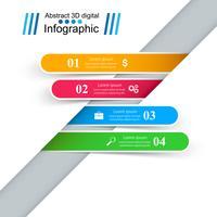 Zakelijke Infographics origami stijl vectorillustratie.