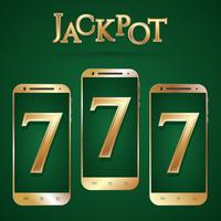 Gouden smartphone-sjabloon