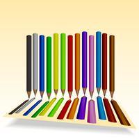 Set kleurpotloden vector