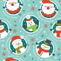 Kerst naadloze patroon, vector