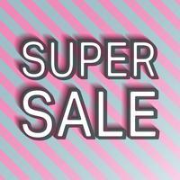 Super verkoopbanner vector