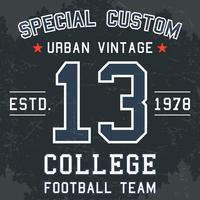 Vintage voetbalposter
