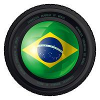 Cameralens van Brazilië vector