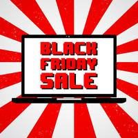 Black Friday-verkoop vector