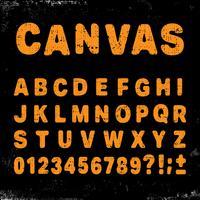 Canvas alfabet lettertype vector