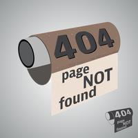 Pagina niet gevonden vector
