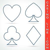 Casino lijn pictogram