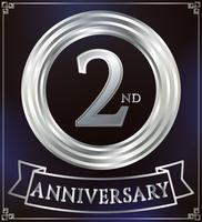 Verjaardag ring zilver vector