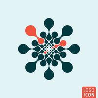 Molecuul logo pictogram vector
