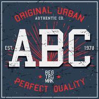 Vintage ABC-poster