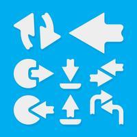 Pijlen pictogrammalplaatje vector