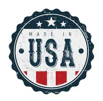Gemaakt in de VS Vintage badge zegel