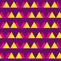 Naadloos uitstekend abstract patroon met driehoeken in de stijl van de jaren 80. Mode achtergrond in Memphis.