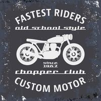Vintage stempel motorfiets