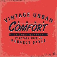 Comfortzone-afdruk vector
