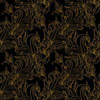 Gouden naadloze mode patronen.