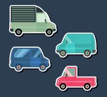 Stedelijke verkeersvoertuigen vector