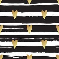 Naadloos vector gouden patroon met harten. Vector illustratie