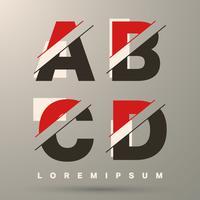 Lettertype sjabloon letters