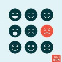 Emoticons pictogram geïsoleerd vector