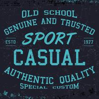 sport casual print vector