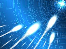 Moderne telecommunicatiesystemen zijn snel. vector
