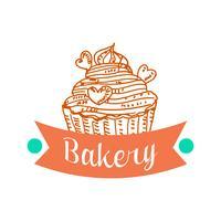Collectie van vintage retro bakkerij-logo