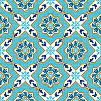 Portugese azulejo. Witte en blauwe patronen. vector