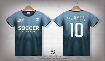 Voetbal shirt en t-shirt sport mockup sjabloon, grafisch ontwerp voor voetbal kit of activewear uniformen.