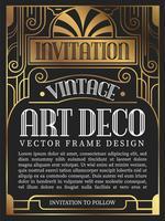 Luxe vintage frame art decostijl. vectorillustratie vector