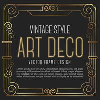 Vintage frame art decostijl. vectorillustratie vector