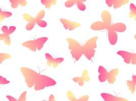 Vector het patroonachtergrond van de illustratie naadloze kleurrijke vlinder