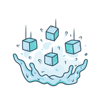 ijsblokje vector