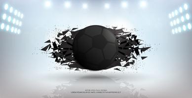 Sport banner achtergrond, realistische grafisch ontwerp 3D-bal element met kopie ruimte voor presentatie mockup sjabloon.